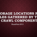 SharePoint search crawl properties storage locations
