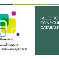 failed to create configuration database