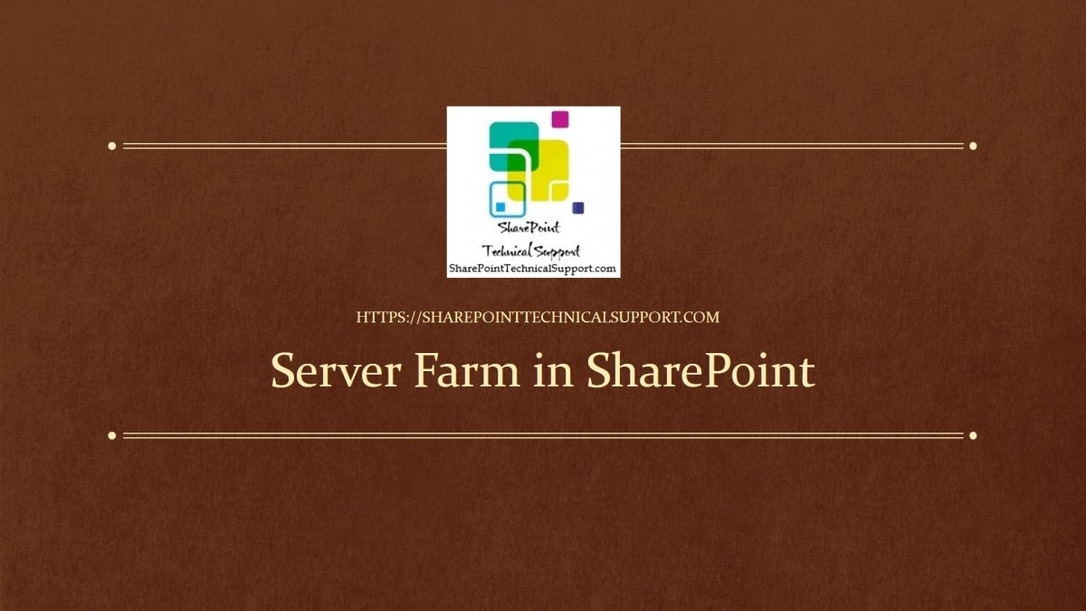 server farm in sharepoint
