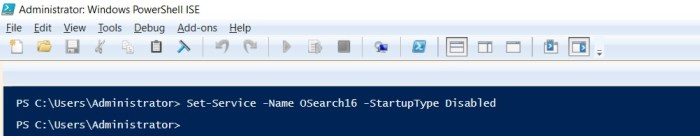 how to disable a particular service using powershell