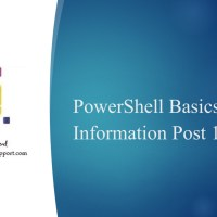 powershell basics information post 1