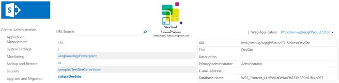 restoring site collection in sharepoint using powershell