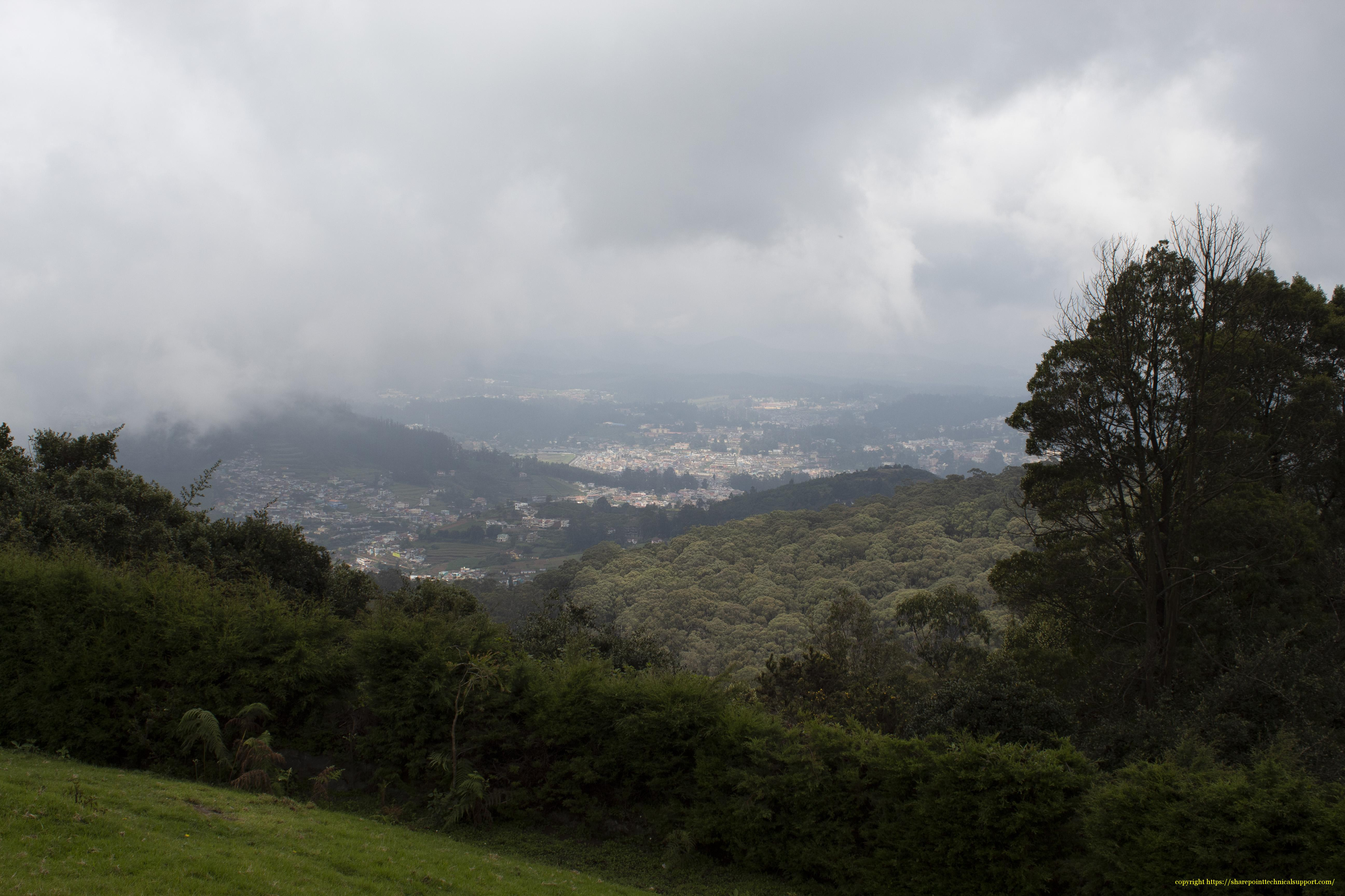 ooty town view