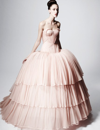 Full gowns in a blush of pink