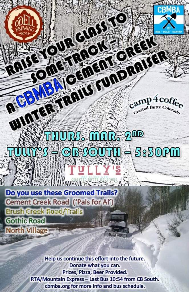 CBMBA Cement Creek Winter Trails Fundraiser