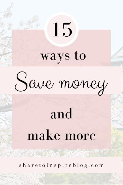 15 ways to save money pinterest pin