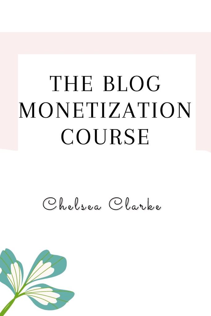 the blog monetization course