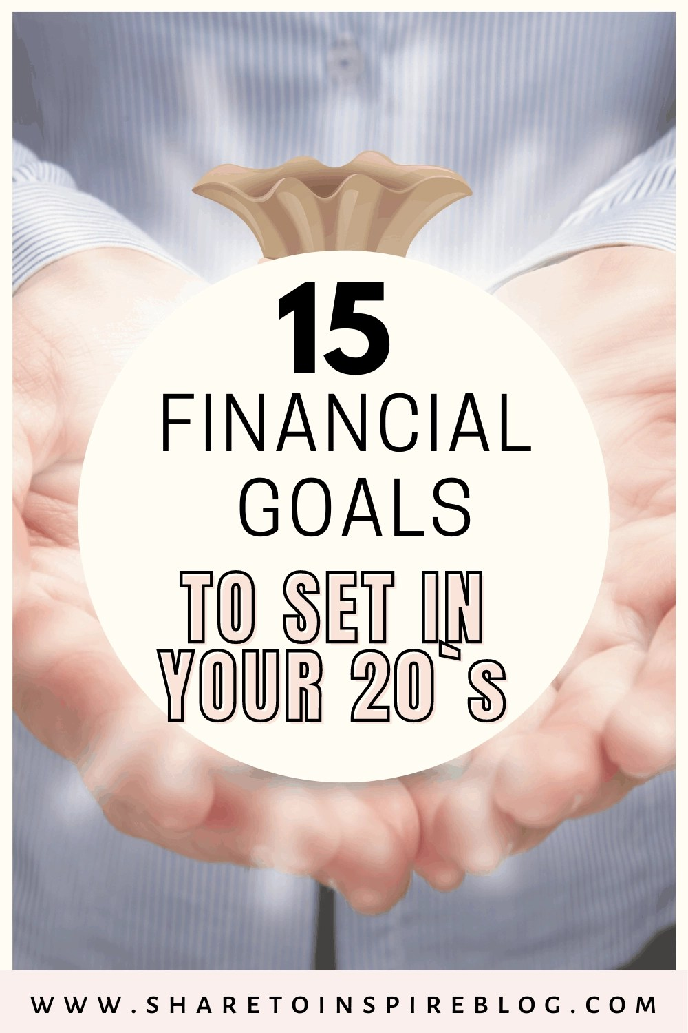 financial goals list to set in your 20`s pinterest pin