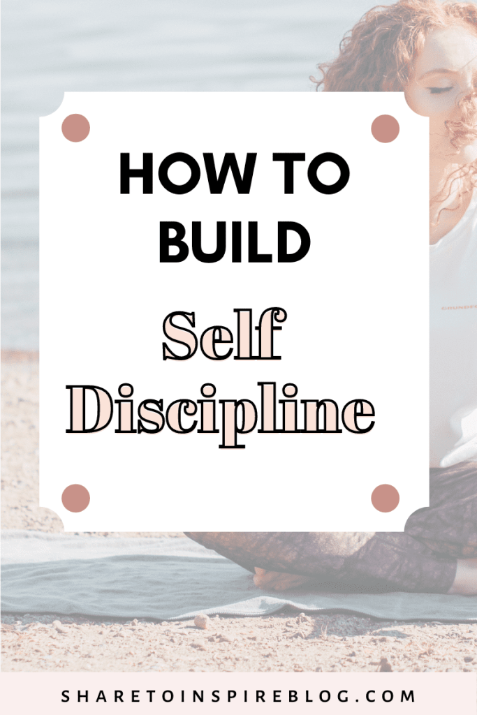 how to build discipline and get more things done pinterest pin