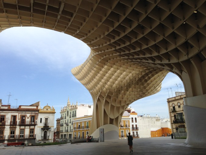 I don't need a tour to show me where aliens landed in Sevilla, this is a major landmark and I can read the history on it easily on my own