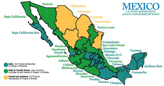 Mexico Map of Safety by State