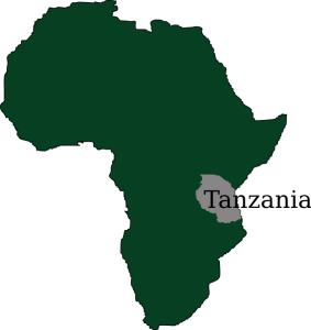 This is where to find Tanzania!