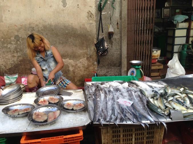 Happiest fish cleaner in Bangkok