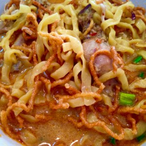 Chiang Mai is known for the dish Khao Soi