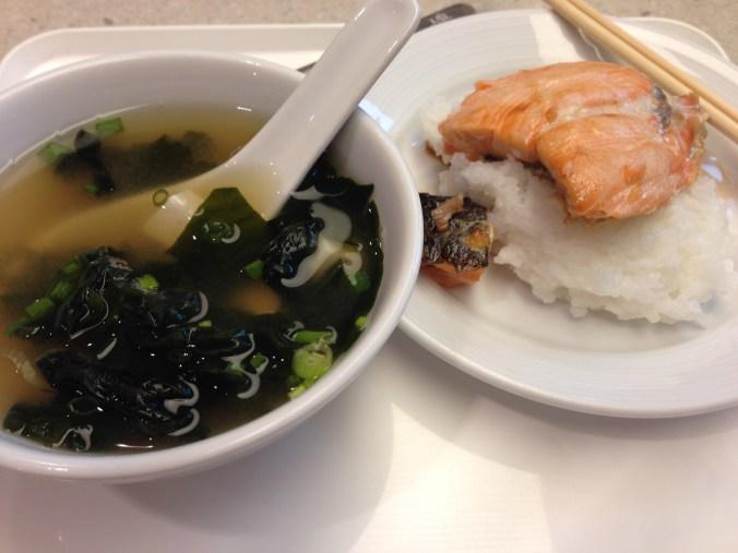 Breakfast in JAL Sakura lounge