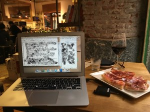 working with wine and jamon