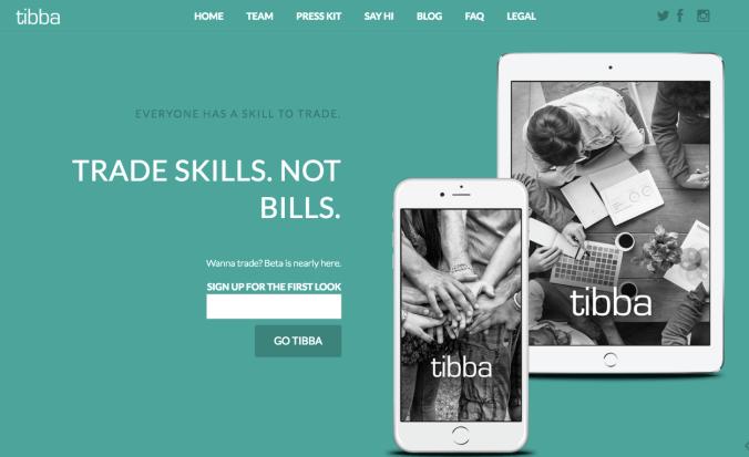 Tibba homepage