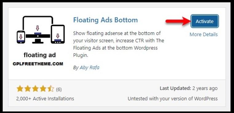 Floating Ads Bottom - WordPress Plugin Free Download