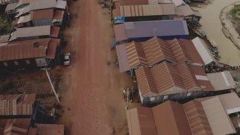 Exploring a Local Cambodian Community Through a Drone