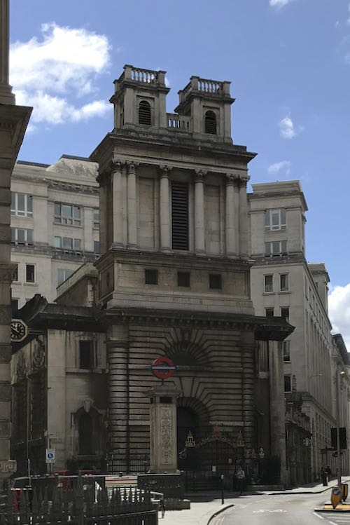 Our exploration of the city of London begins at The Bank