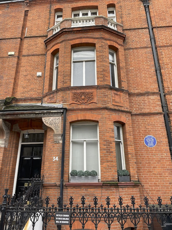 Oscar Wilde a star of the  Chelsea literary and artistic walk