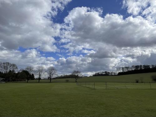 Cross Amersham Cricket pitch on the Little Missenden loop
