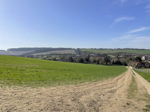 First great view on the Misbourne Valley loop