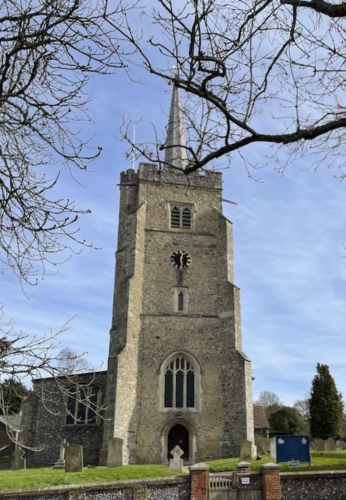Aldenham church on the Watford to Aldenham Country loop