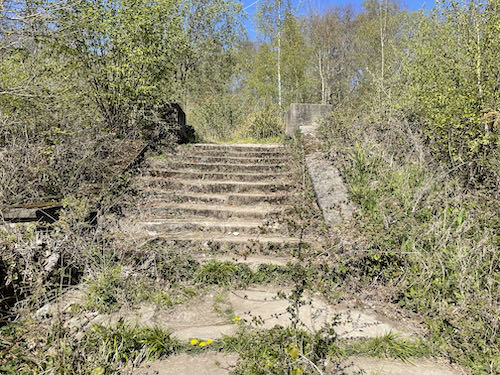 The remaining steps at the spy home on the Ruislip den of spies walk