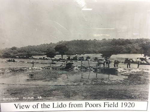 See the lido as it was before on the Ruislip den of spies walk
