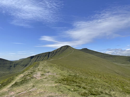 Further to go on the quiet route to Pen y Fan