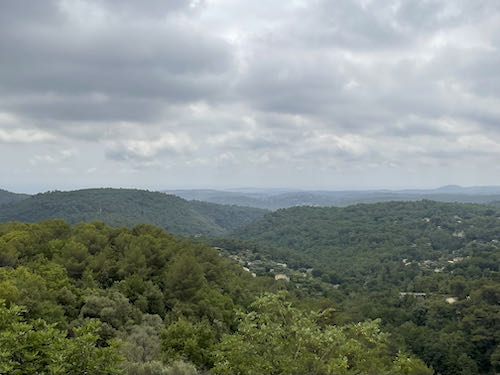 A great view from the edge of the village on the La Colle to Tourette walk