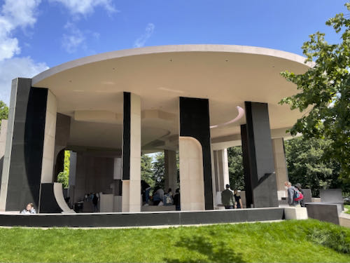 A modern design on the central London parks walk