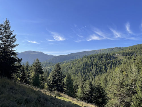 The weather was beautiful on the Roubion easy mountain walk