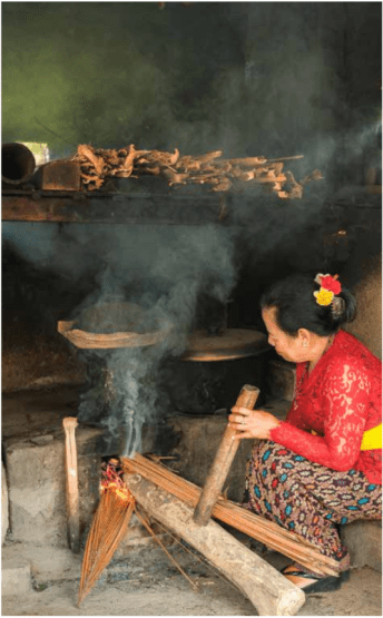 Traditional Kitchen Fire Our Bali Your Bali book.