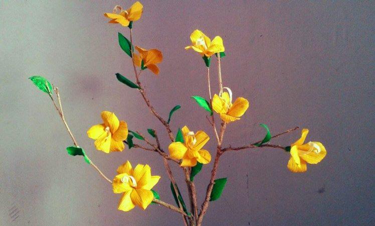 Kerajinan Bunga Hias Dari Kulit Jagung