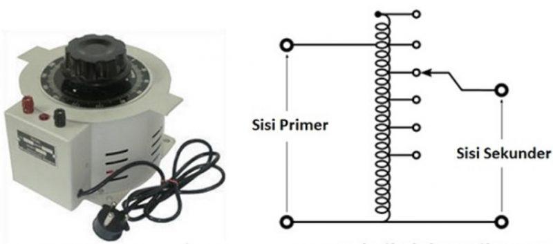 Transformator Autotransformator Variabel