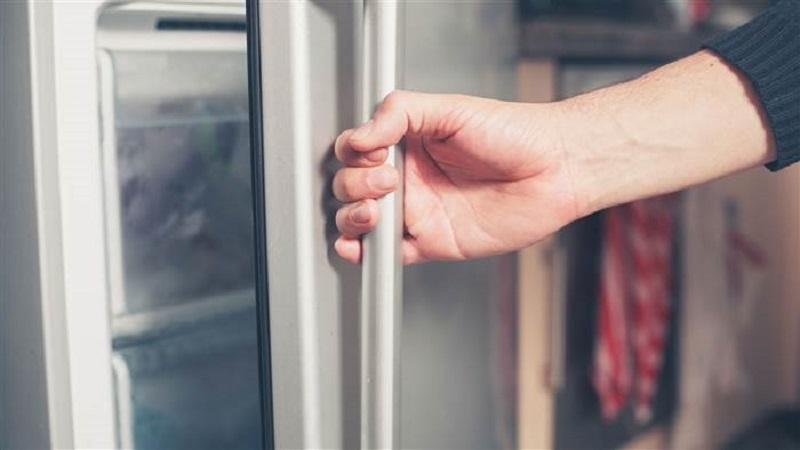 lemari es selalu tertutup