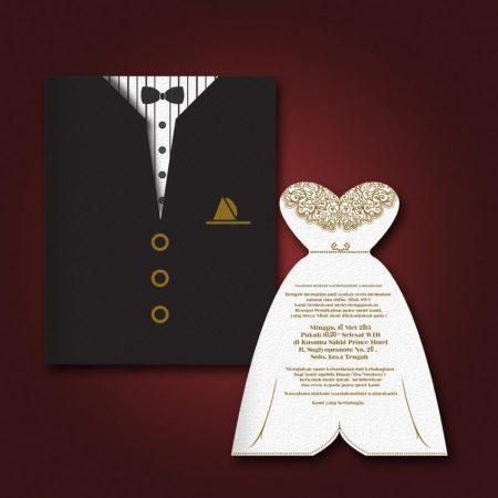 Contoh Undangan Pernikahan Model Jas