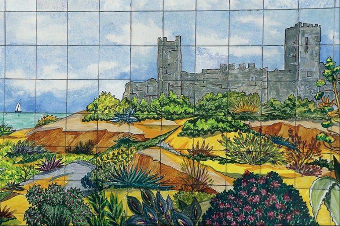 Gambar Mozaik Pemandangan Alam