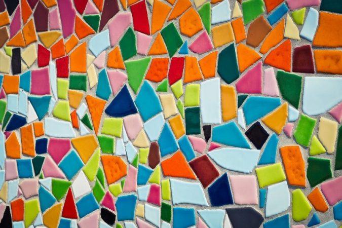 Gambar Mozaik yang mudah