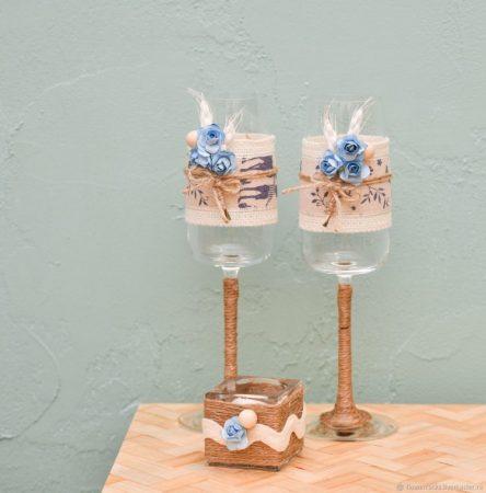 Souvenir Pernikahan Gelas Kaki Panjang