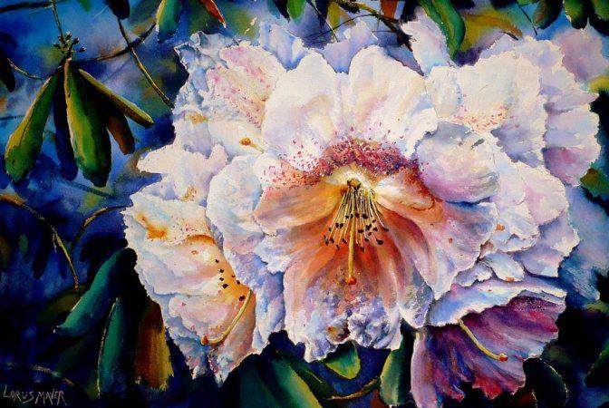 Contoh Lukisan Aquarel Bunga