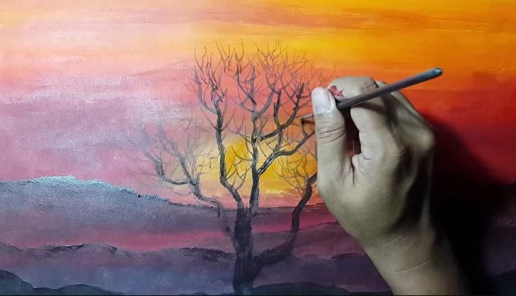 Contoh Lukisan Teknik Aquarel