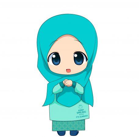 Gambar Kartun Muslimah Anak Kecil