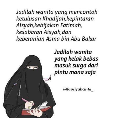 Gambar Kartun Muslimah dan Kata kata 11