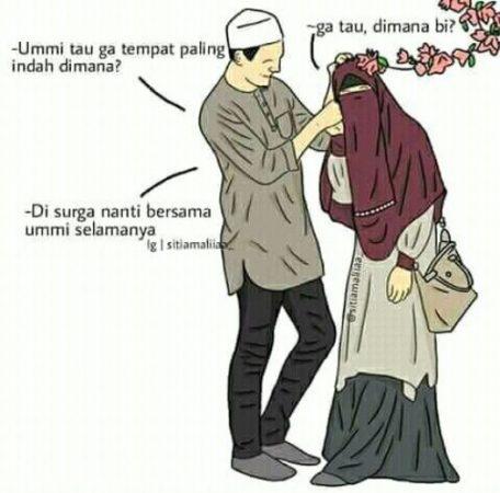 Gambar Kartun Muslimah dan Kata kata 16