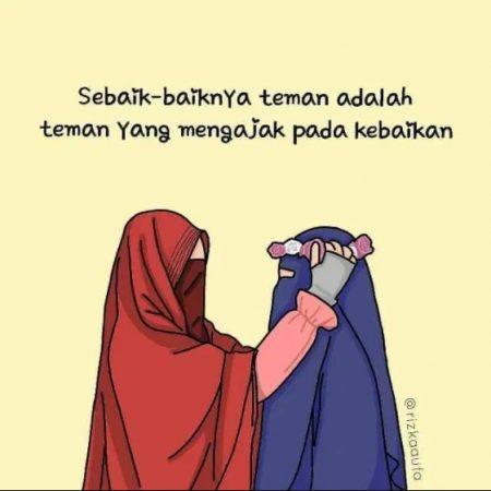 Gambar Kartun Muslimah dan Kata kata 2