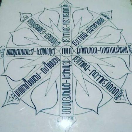 Kaligrafi Aksara Jawa cakra 1