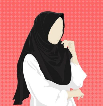 Kartun Muslimah Tanpa Wajah
